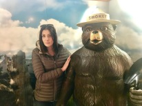 Laura with the bear himself